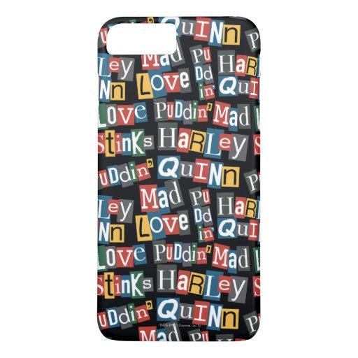 Batman | Harley Quinn Ransom Note Style Pattern iPhone 8 Plus/7 Plus Case