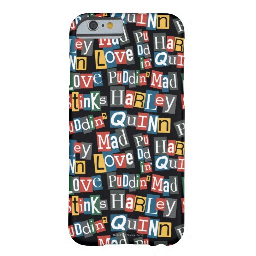 Batman | Harley Quinn Ransom Note Style Pattern Barely There iPhone 6 Case