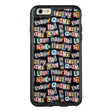 Batman | Harley Quinn Ransom Note Style Pattern OtterBox iPhone 6/6s Plus Case