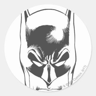 Batman Head Classic Round Sticker