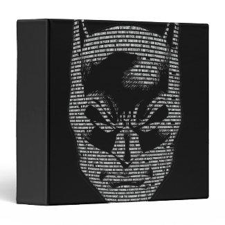 Batman Head Mantra 3 Ring Binders