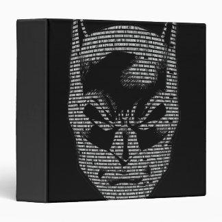 Batman Head Mantra Vinyl Binders