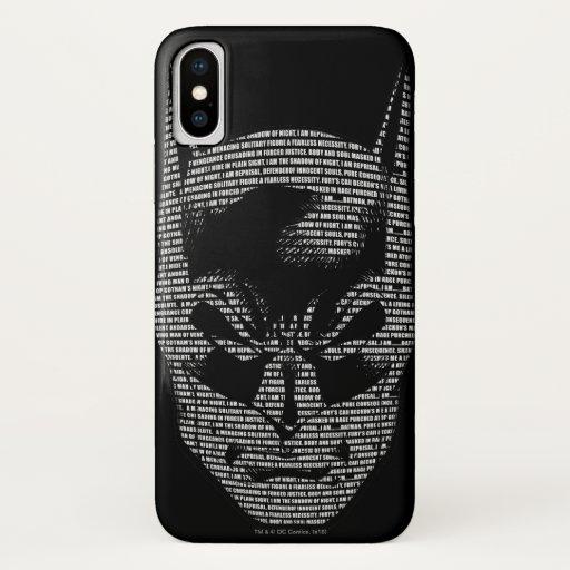 Batman Head Mantra iPhone XS Case