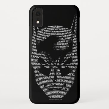 Batman Head Mantra iPhone XR Case