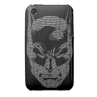 Batman Head Mantra iPhone 3 Case
