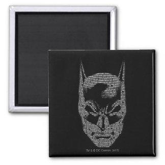 Batman Head Mantra 2 Inch Square Magnet