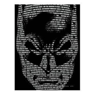 Batman Head Mantra Postcard