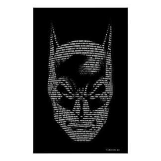 Batman Head Mantra Poster