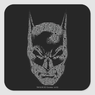 Batman Head Mantra Square Sticker