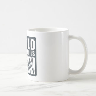 Batman | Hello My Name is Batman Logo Coffee Mug