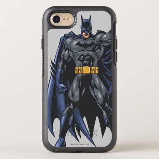 Batman holds up cape OtterBox symmetry iPhone SE/8/7 case