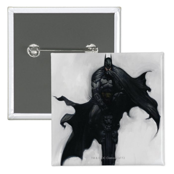 Batman Illustration Button