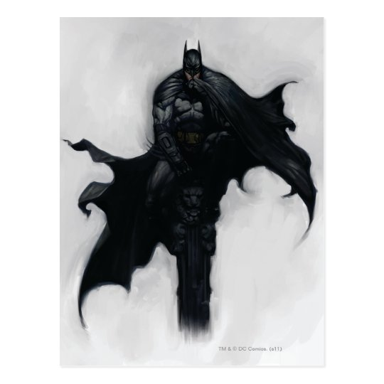 Batman Illustration Postcard