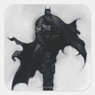 Batman Illustration Square Sticker