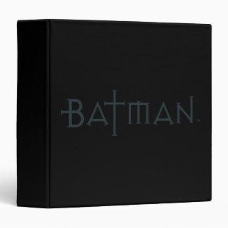 Batman in styled font 3 ring binder