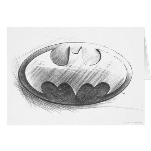 Batman Insignia Drawing Greeting Card