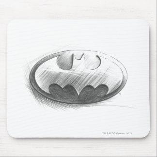 Batman Insignia Drawing Mouse Pad