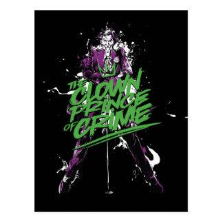 Batman | Joker Clown Prince Of Crime Ink Art Postcard