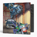 Batman & Joker - Riding Motorcycles 3 Ring Binder