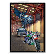 Batman & Joker - Riding Motorcycles Card