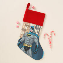 Batman Kicks Christmas Stocking