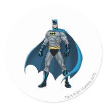 Batman Kicks Classic Round Sticker