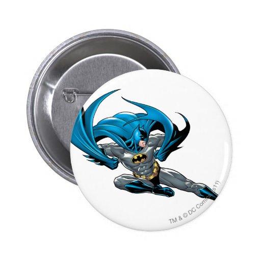 Batman kicks right pinback button