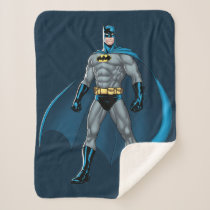 Batman Kicks Sherpa Blanket