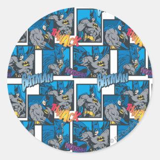 Batman Knight FX - 30A Thwack/Fwooshh pattern Classic Round Sticker