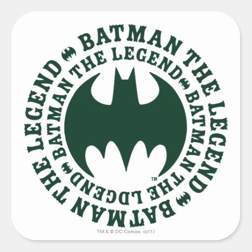 Batman la leyenda pegatina cuadradas personalizadas