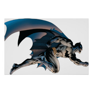 Batman Leaping Side View Poster