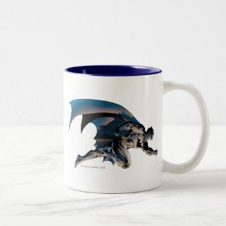 Batman Leaping Side View Two-Tone Coffee Mug