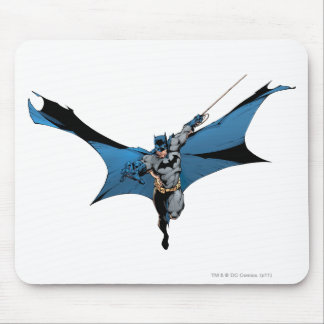 Batman leaps with rope mouse pad