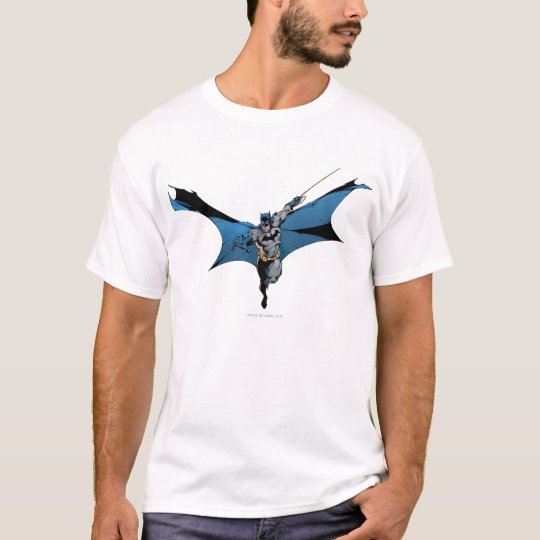 Batman leaps with rope T-Shirt