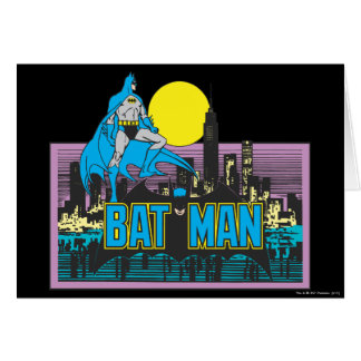 Batman & Letters Greeting Card