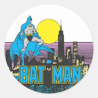 Batman & Letters Round Stickers