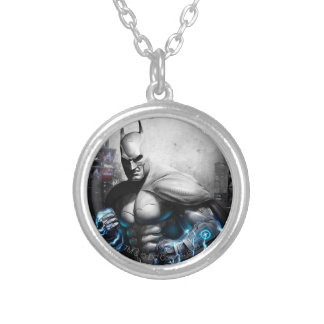 Batman - Lightning Round Pendant Necklace