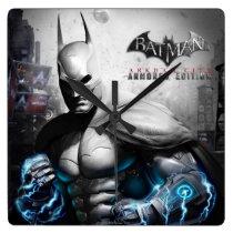 Batman - Lightning Square Wall Clock