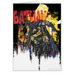 Batman Line Art Collage Greeting Card