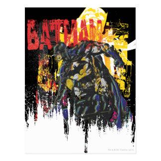 Batman Line Art Collage Postcard