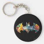 Batman Logo Neon/80s Graffiti Keychains