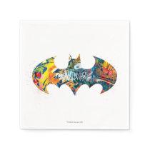 Batman Logo Neon/80s Graffiti Napkin