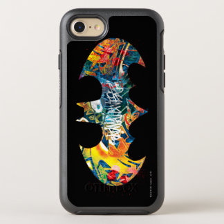 Batman Logo Neon/80s Graffiti OtterBox Symmetry iPhone 8/7 Case