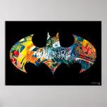 Batman Logo Neon/80s Graffiti Poster