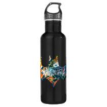 Batman Logo Neon/80s Graffiti Stainless Steel Water Bottle