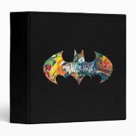 Batman Logo Neon/80s Graffiti Vinyl Binders