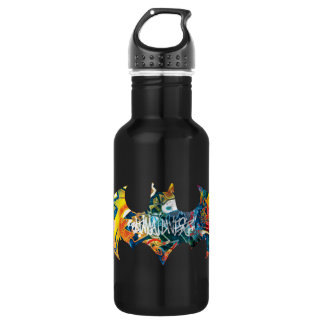 Batman Logo Neon/80s Graffiti Water Bottle