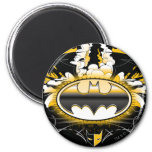 Batman Logo with Cars 2 Inch Round Magnet