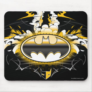 Batman Logo with Cars Mouse Pad
