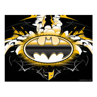 Batman Logo with Cars Postcard